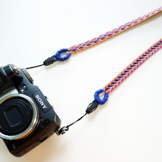 Camera strap double-sided hand-woven woven ribbon