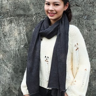 Cashmere Shawl / Scarf / Stole Handmade from Nepal Blue