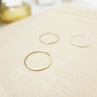 Simple engraved line ring - gold / rose gold / silver