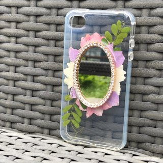 Dried Pressed Flowers Handmade iPhone SE / 5S / 5 mirror crystal case FMR
