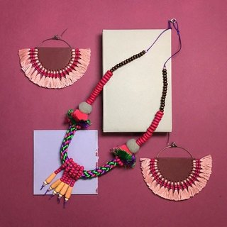 necklace : boho-chic(pink)