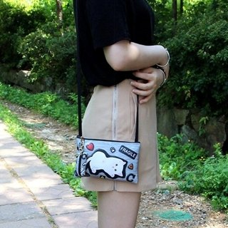 Jetoy, sweet cat versatile shoulder bag _Gray patch J1609101