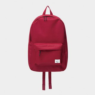 Original color simple backpack:: wine red::