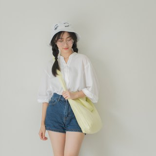 Casual 2 Ways Linen Tote Bag (Lemon)