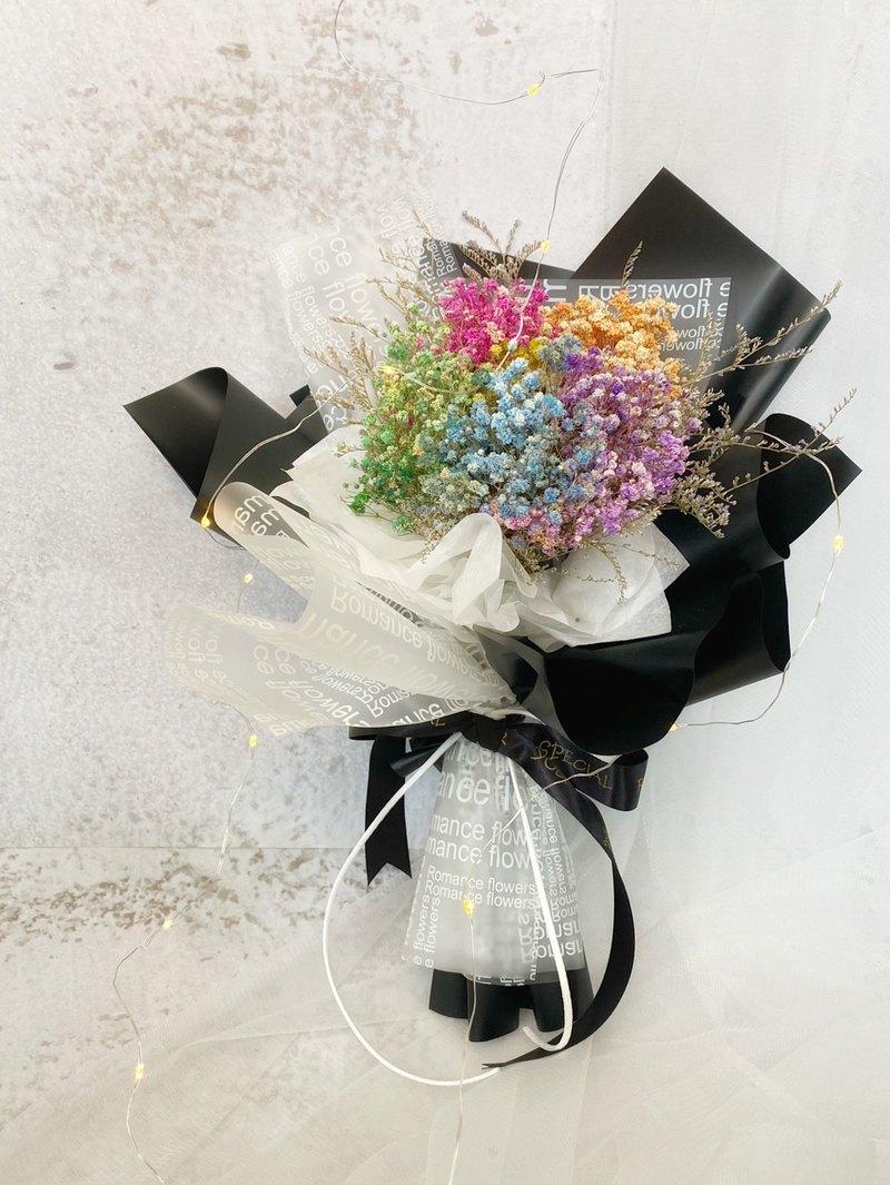 彩色滿天星 | 乾燥花花束 永生花花束 生日禮物 情人節 畢業花束