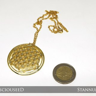 Flower of Life Pendant (18K gold plated)