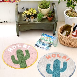 【Pre-order】 ☼HOLA round cactus mat ☼ (two-color)
