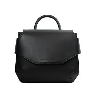 POMOLO shoulder leather bag /Black