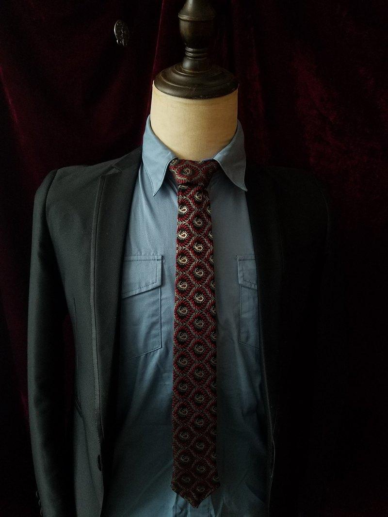 紅色佩利斯領帶型男百搭婚禮領帶