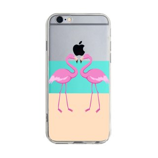 Custom double flamingo transparent Samsung S5 S6 S7 note4 note5 iPhone 5 5s 6 6s 6 plus 7 7 plus ASUS HTC m9 Sony LG g4 g5 v10 phone shell mobile phone sets phone shell phonecase