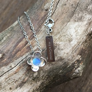 Light bulb blue moonstone pendant
