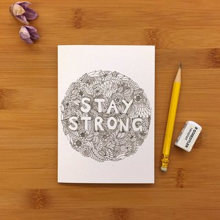 【LITTLE DIFFERENCE】STAY STRONG FLOWERS GREETING CARD