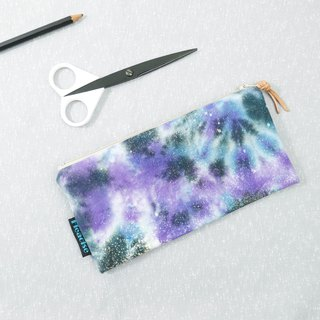 Tie-dye handmade Pencil Case Cosmetic bag Purse Zipper bag : Starry :