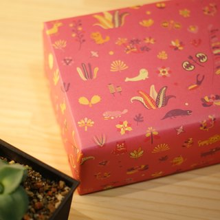 [Lonely planet] wrapping paper - pink: forest animal party - double-sided A2 - 10 into +18 small stickers stickers