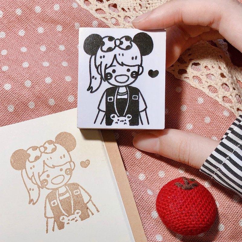 現在下單明年一月開始繪製-客製化手工木頭印章-讓我畫畫你系列