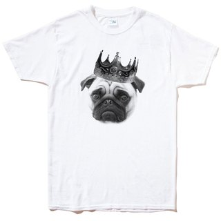 Notorious PUG Short Sleeve T-Shirt White Pug Dog Fighting Dogs Animals American Cotton
