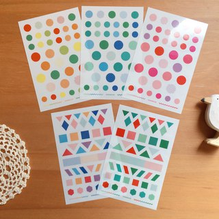Dimanche Touch Stickers Geometric Colors