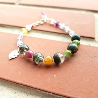 Girl Crystal World [Leaf] - Green Ghost Bracelet Bracelet Natural Crystal Gems Handmade