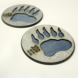 Animal footprints coaster - Taiwan black bear