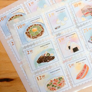Di Mengqi On The Table Stamp Stickers Pastel Style