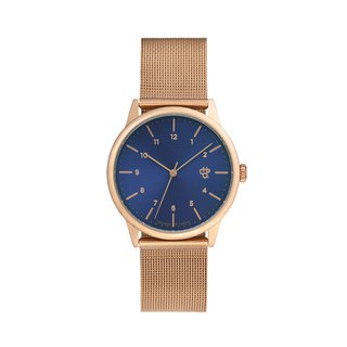Swedish Brand - Rawiya Rose Gold Blue Dial - Rose Gold Milan with Adjustable Watch