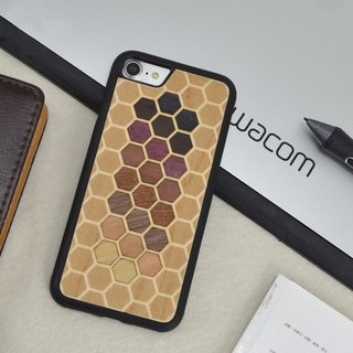 Original Apple iPhone 6 / 6S / 7/6 Plus / 6S Plus / 7 Plus Handmade Wooden Creative Geometric Solid Wood All-Inclusive Soft Shell Simple Phone Case