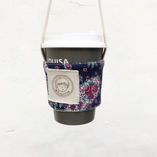 Rose grass shoes / rose blue purple / beverage cup beverage bag
