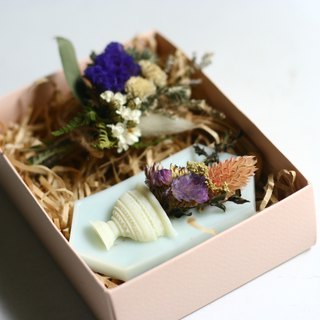 aroma brick with dried plant gift set