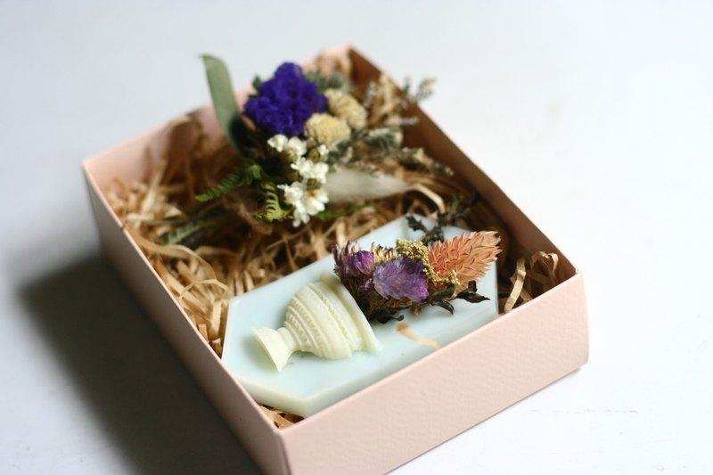 | 香氛磚搭乾燥花束禮盒 | 製皂工人好心晴