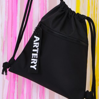 ARTERY back black canvas bag beam port