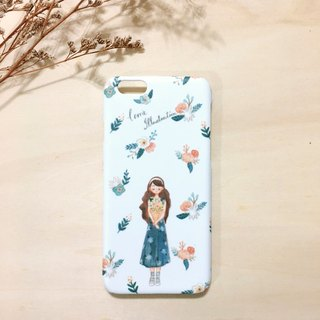 Tranquil flowers iPhone Case