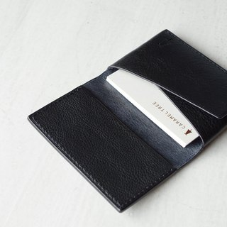 【受注生産】Italian leather Business Card Case dark navy