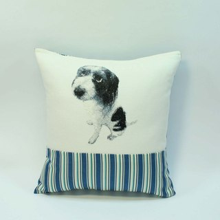 Embroidery small dog pillow 01-