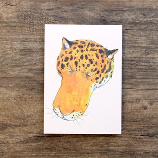 Postcard  The Long Face Panther