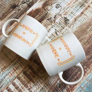 Customized / Couples Commemorative / Love Witnesses mug _1 into (free custom name)
