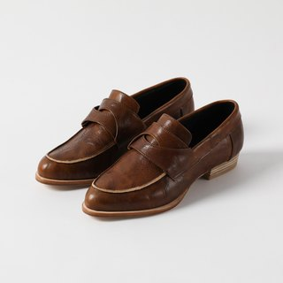 ZOODY / intersection / handmade shoes / flat shoes lovers shoes / brown