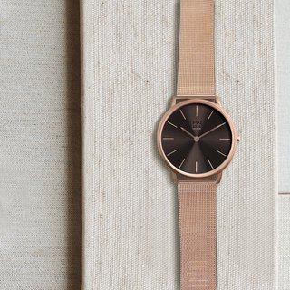 THIN 5010 Minimalist Slim Milan Watch - Dark Brown