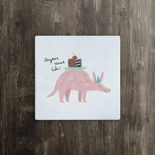 [party animal] small ant animal ceramic coaster