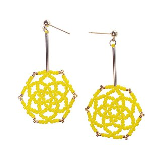 Yellow - Daisy Flower Drop Earrings