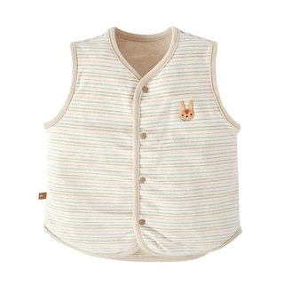 【SISSO organic cotton】 Bunny flower dye double-sided moisture-absorbing vest