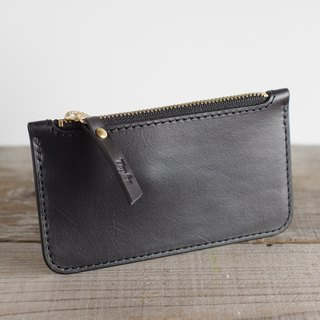 Nume leather key pouch (key case) black