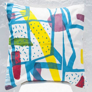 Handmade color block pillowcase cotton pillowcase rainbow hug pillowcase - abstract geometric palette Mondrian
