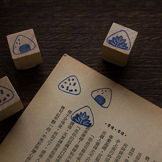 Hand engraved rubber stamp rice ball seal stationery