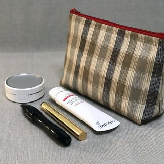 Casual-life Handmade Fashion Plaid Makeup Bag / Storage Bag