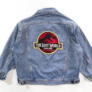 [3thclub Ming Hui Tong] Lee denim jacket Jurassic Park, The Lost World CTJ-001 vintage