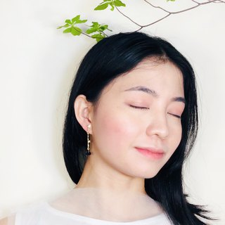 Minimalism - Jade 14kgf Earrings【Bamboo】III
