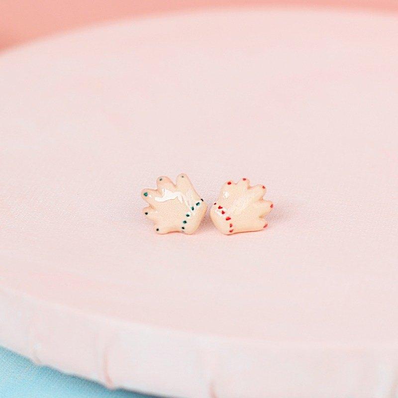 paramecium【莉桃漢德】石塑粘土創意首飾原創設計耳釘小手點點
