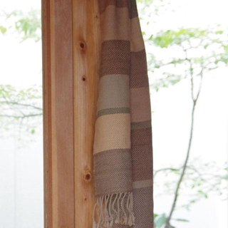Large islands wool muffler No.1 plant dyeing, hand-woven