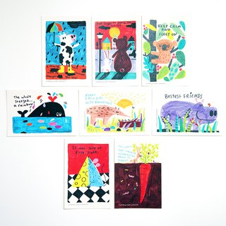 Animal story postcard set