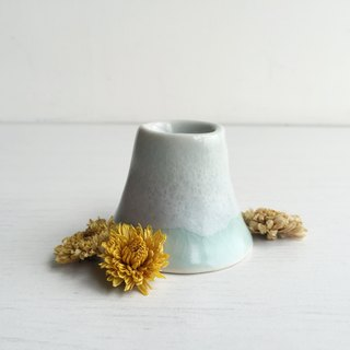 Handmade ceramic mint ball series small snow mountain flower